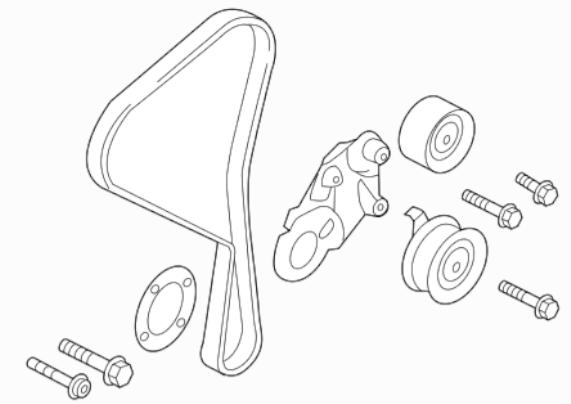 volvo s60 v60 xc60 timing belt kit 2.0 4 cylinder T5