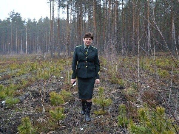 Інженер з лісових культур держпідприємства «Городоцьке лісове господарство» Олена Некришевич на «робочому місці».
