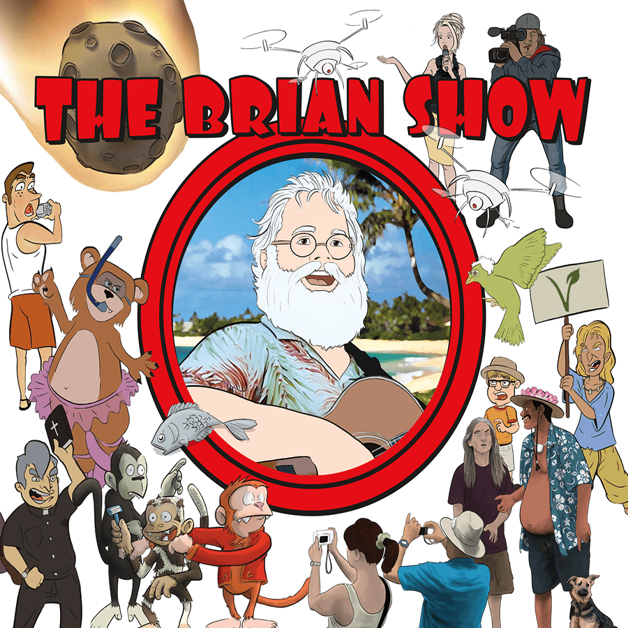 The cover for The Brian Show, © 2016 VonAwesome Productions LLC. Design by Kevin Hughes/Artwork by Will Caron