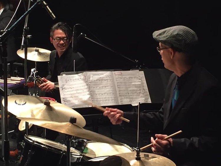Von Baron and Hideki Wada playing together.