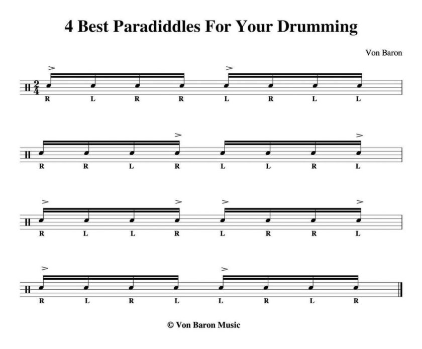 The 4 best paradiddles for your drumming.