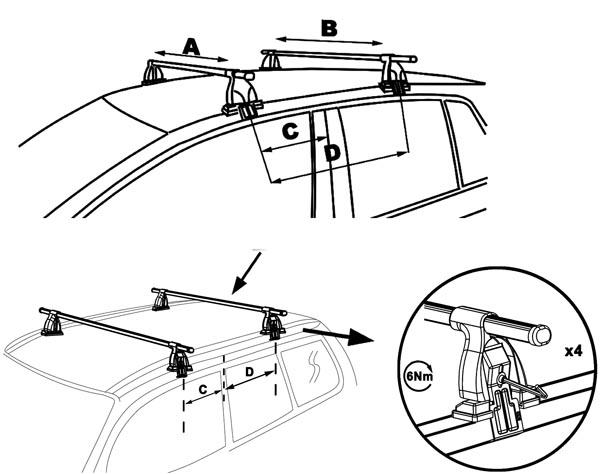 Aurilis Dachträger Easy One Ford C-Max II (Schrägheck 5
