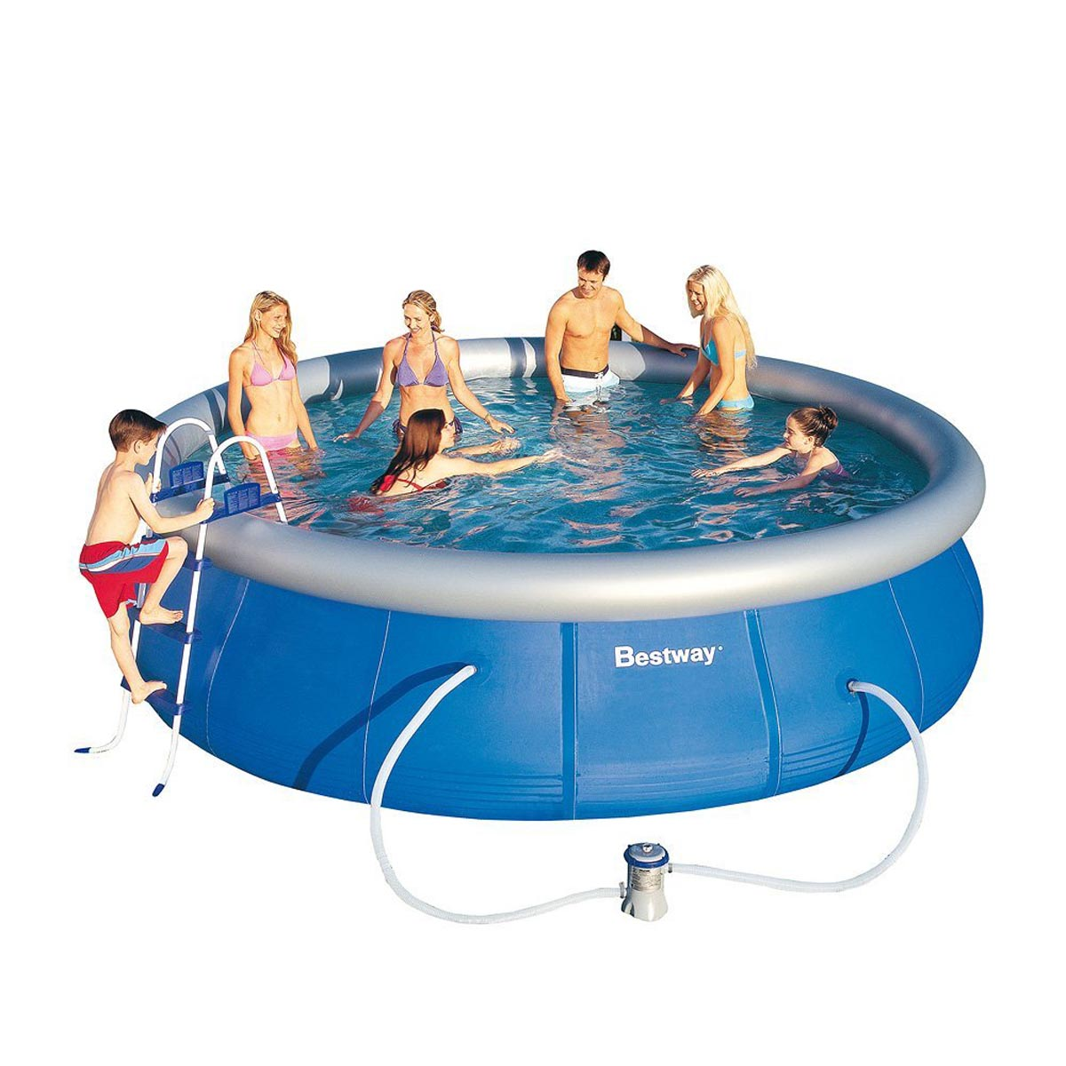 Pool Ohne Filterpumpe Bestway 57212gs Fast Set Quick Up Swimming Pool Schwimmbad