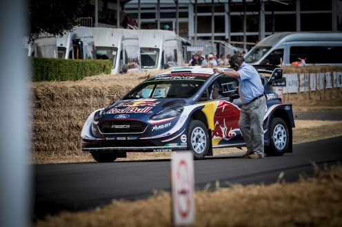 2018 WRC Red Bull Ford Fiesta rally car