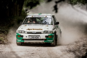 Ford Escort Cosworth rally car