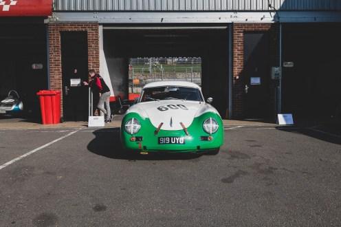 Green and white Porsche 356