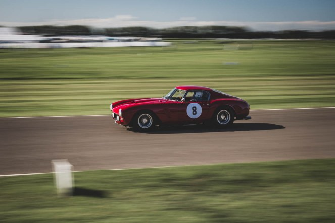 Fast Ferrari 250 GT SWB/C, Goodwood Revival.