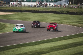 Two Italians ganging up on the little German, Goodwood Revival.