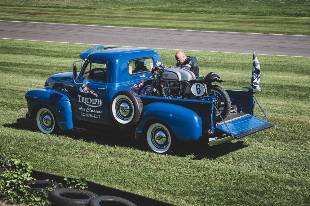 Blue 1948 Chevy pick up