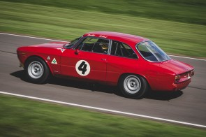 Tom Coronel driving this 1965 Alfa Romeo 1600 GTA. St Mary's Trophy practice session, Goodwood Revival.