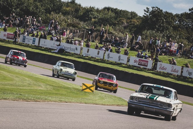 The St Mary's Trophy races always has a great line up of cars, Madgwick, Goodwood Revival.