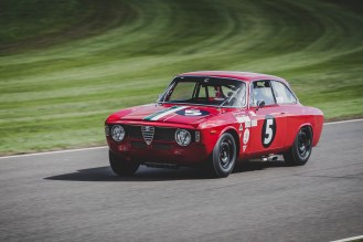 Andre Lotterer driving the socks of this little Alfa Romeo 1600GTA, Goodwood Revival.