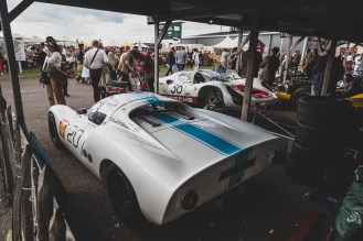 Porsche 910's sat quiet, Goodwood Revival