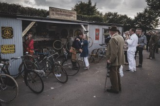 Old friends and old bikes, Goodwood Revival.