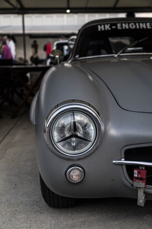 1955 Mercedes-Benz 300SL looked super tough, Goodwood Revival.