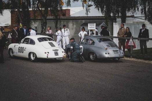 Two Porsche 356's in Parc Ferme