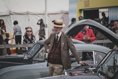 Dapper tweed and boater hat