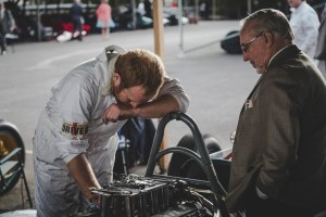 Puzzled looking mechanic