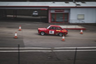 Red 1978 Mark two Ford Escort