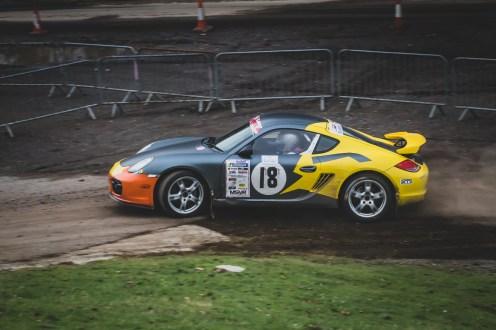 Porsche Cayman rally car