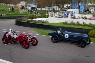 Vintage sports cars racing