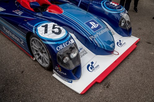 Front of a Le Mans 24 hour LMP 1 race car