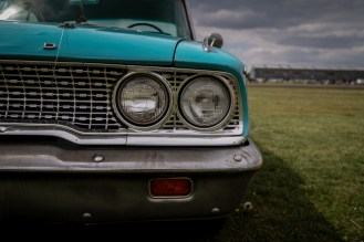 Front headlights of 1963 Ford Galaxie 500