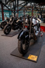 Custom motorcycles at the Bike Shed show