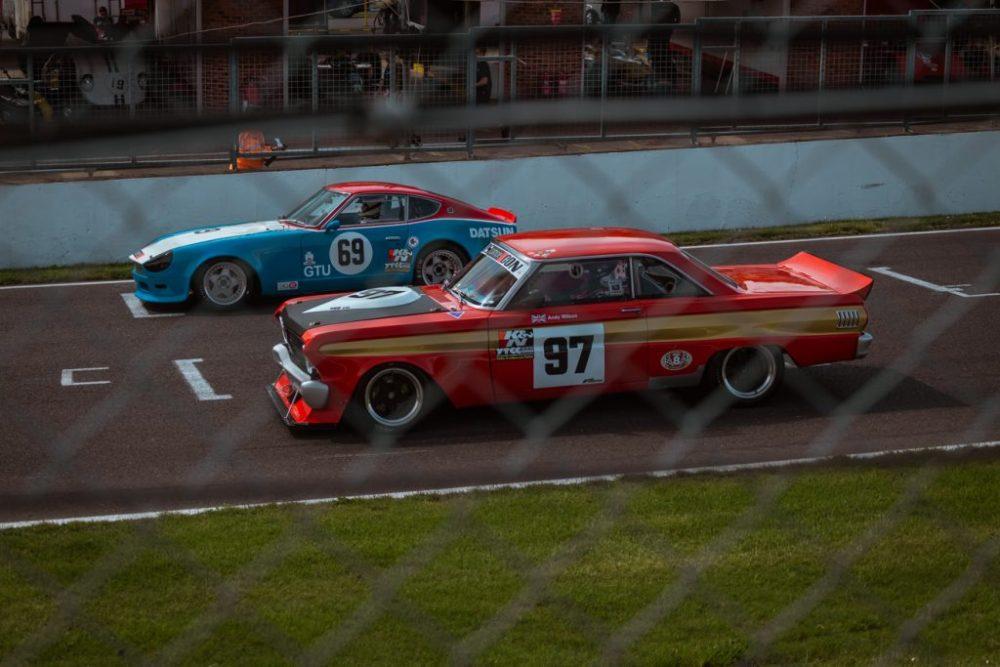 Race cars on startline