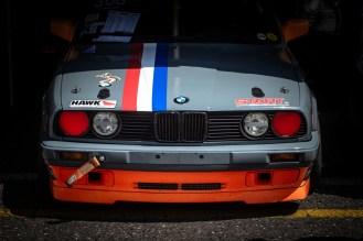 Grey BMW race car