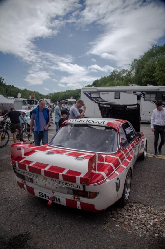 Rear wing on BMW race car
