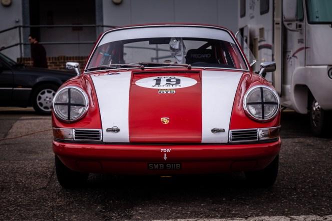 Red and white Porsche 911