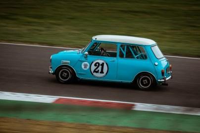 Blue racing Mini car