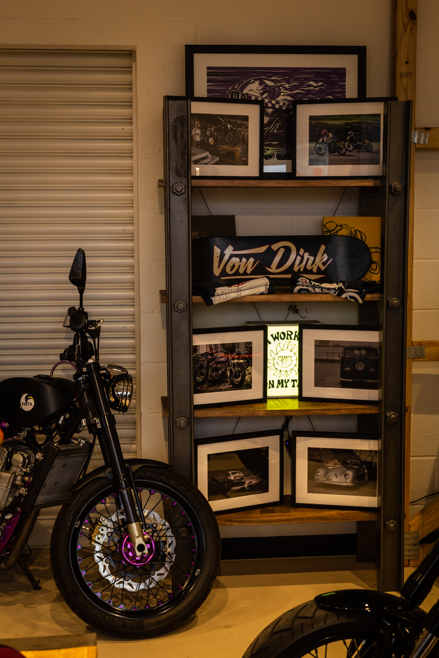 A display of Von Dirk photographs at Krazy Horse London