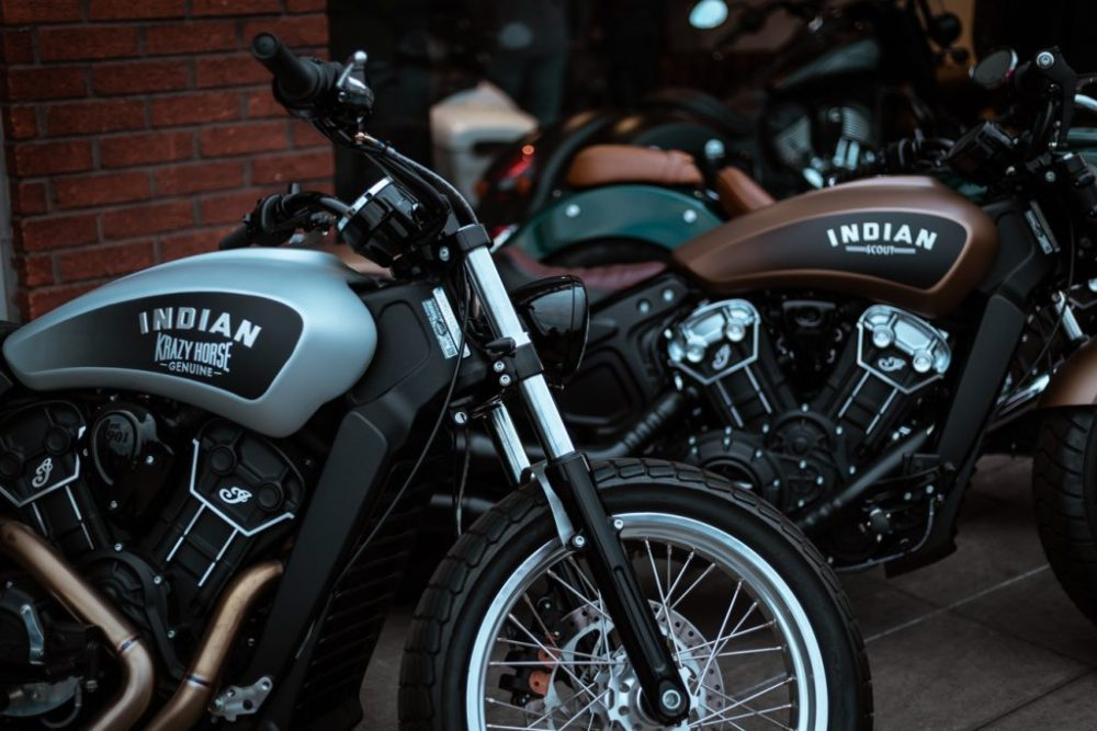 Indian scout motorcycles at Krazy House London