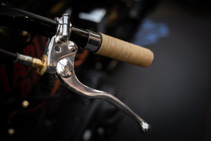 String grips on Harley Davidson