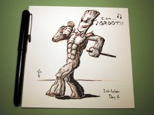 brush pen groot