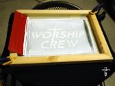 worship crew - screening shirts