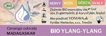 EO Organický YLANG-YLANG etiketa Voniava