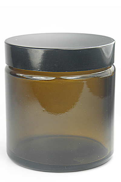 Hnedá sklenená nádoba s plastovým uzáverom 120ml