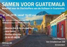 Flyer benefiet voor de slachtoffers van de vulkaar in Guatemala - NL