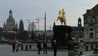 Goldener Reiter auf dem Neustädter Markt