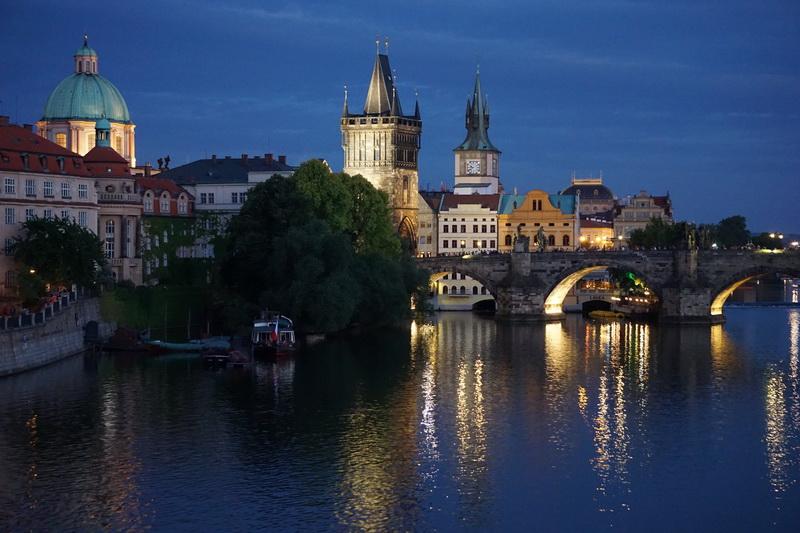 Prag gegen 20.30 Uhr