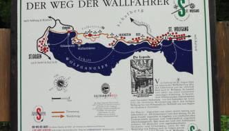 Ein kleines Stück auf dem Weg der Wallfahrer entlang am Wolfgangsee