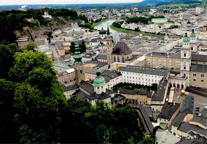 Stift St.Peter in Salzburg von oben