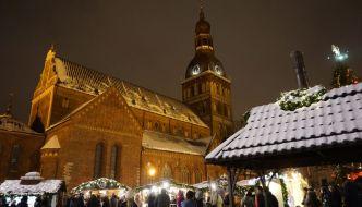 Weihnachtsmarkt in Riga (Lettland)