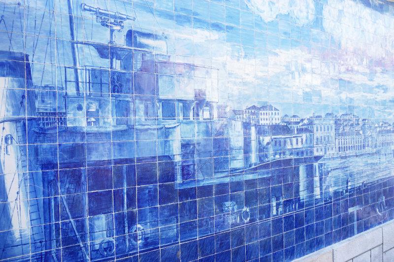 Kachelkunst in Lissabon - großes Bild