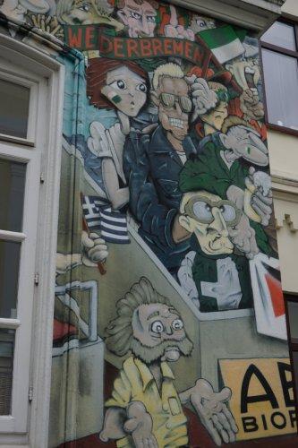 Tribüne bei Werder - Streetart