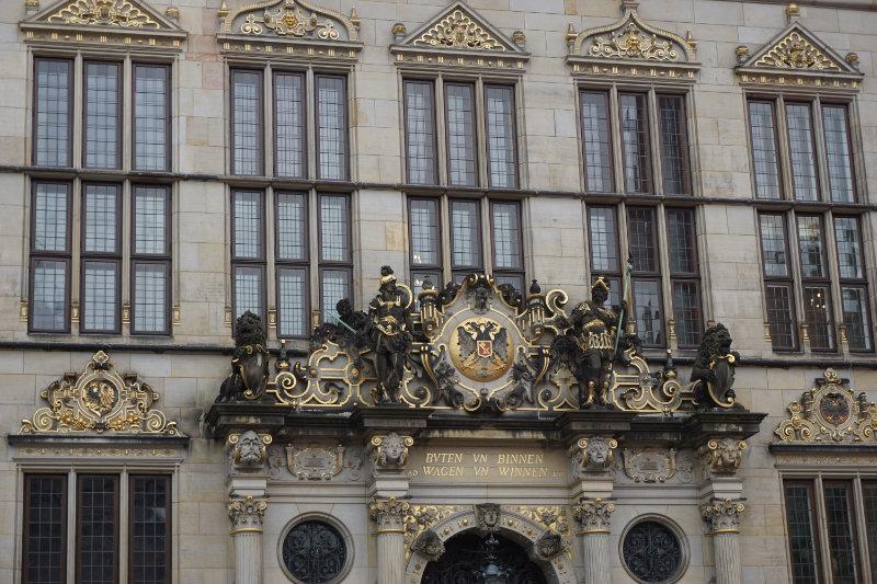 Eingang Schütting Marktplatz in Bremen