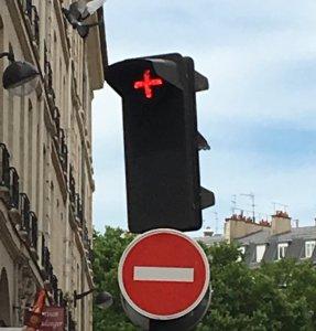 unbekanntes Ampelzeichen - Fragen zu Paris